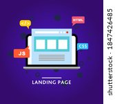 landing page. web site. vector...