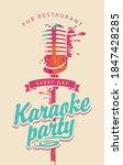music poster for karaoke party... | Shutterstock .eps vector #1847428285