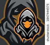 Ninja assassin mascot logo for  esport or gamer logo