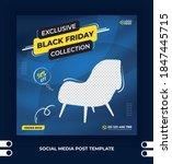 black friday exclusive modern... | Shutterstock .eps vector #1847445715