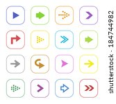 colorful arrow icon set... | Shutterstock . vector #184744982