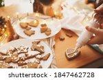 Decorating Gingerbread Cookies...