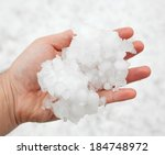 Small Grains Of Hail In The...