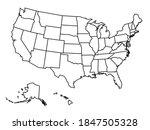 blank outline map of united... | Shutterstock .eps vector #1847505328