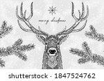 black and white illustration of ...   Shutterstock .eps vector #1847524762