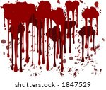 red ink splatters | Shutterstock .eps vector #1847529