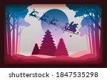 christmas card paper art... | Shutterstock .eps vector #1847535298