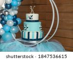 Sailor's theme blue birthday...