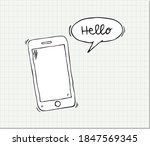hand drawn smartphone with word ...   Shutterstock .eps vector #1847569345