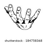 hand drawn  vector  sketch... | Shutterstock .eps vector #184758368