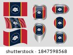 the flag of the state of... | Shutterstock .eps vector #1847598568