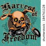 harvest of freedom | Shutterstock .eps vector #184761128