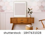 picture frame on a wooden... | Shutterstock . vector #1847631028