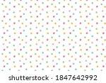 Watercolor. Polka Dots  Circle. ...