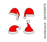 santa claus hat collection ... | Shutterstock .eps vector #1847650075
