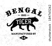 vintage label Bengal Tiger ( T-Shirt Print )