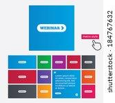 webinar with arrow sign icon....   Shutterstock .eps vector #184767632