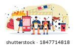 movie composition with...   Shutterstock .eps vector #1847714818
