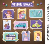 vision board with future...   Shutterstock .eps vector #1847714878