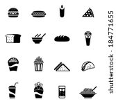 black fast food icon  ... | Shutterstock .eps vector #184771655