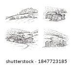 italy  europe. sketch vector... | Shutterstock .eps vector #1847723185