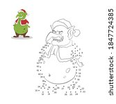 dot to dot christmas game.... | Shutterstock . vector #1847724385