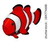clownfish 3d | Shutterstock . vector #184774688