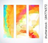 vertical banner vector set  | Shutterstock .eps vector #184776572
