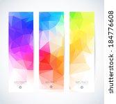 vertical banner vector set  | Shutterstock .eps vector #184776608