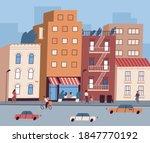 City Street With Tiny People...
