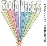 vintage good vibes slogan... | Shutterstock .eps vector #1847779015