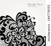 vector ornament. black lace... | Shutterstock .eps vector #184778552