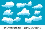 set of blue sky  abstract... | Shutterstock .eps vector #1847804848