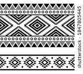 aztec tribal geometric seamless ... | Shutterstock .eps vector #1847805445
