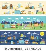 industrial buildings factories... | Shutterstock .eps vector #184781408