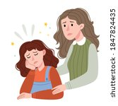 mom supports her daughter...   Shutterstock .eps vector #1847824435