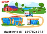farmers products supply chain... | Shutterstock .eps vector #1847826895