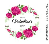 valentines day card. vector... | Shutterstock .eps vector #1847866762