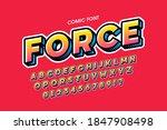 comic book style font  alphabet ... | Shutterstock .eps vector #1847908498