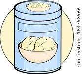 vanilla ice cream bottle | Shutterstock .eps vector #184793966