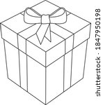gift box with bow and ribbon 3d ... | Shutterstock .eps vector #1847950198