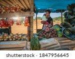 African Street Vendor  Mother...