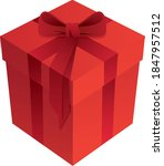 red romantic holiday gift box... | Shutterstock .eps vector #1847957512