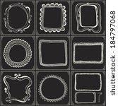 hand drawn vector line border... | Shutterstock .eps vector #184797068
