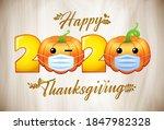 happy thanksgiving day 2020.... | Shutterstock .eps vector #1847982328