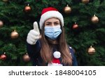 christmas thumbs up like sign.... | Shutterstock . vector #1848004105