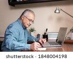 senior man learn to use... | Shutterstock . vector #1848004198