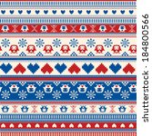 seamless winter sweater pattern ... | Shutterstock . vector #184800566