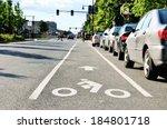 Bike lane in city street