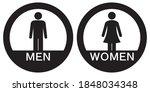Men And Women Restroom Icon ...
